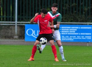 Villalobos in action against Cork City or Irish Premier League
