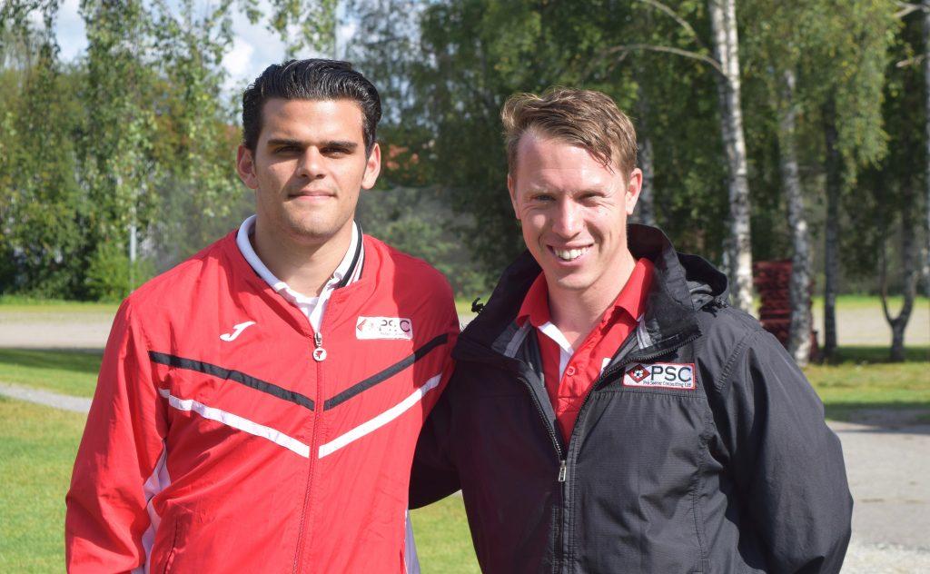 Manios (left) alongside PSC Event Organiser and Head of Player Recruitment, Simon Deeley