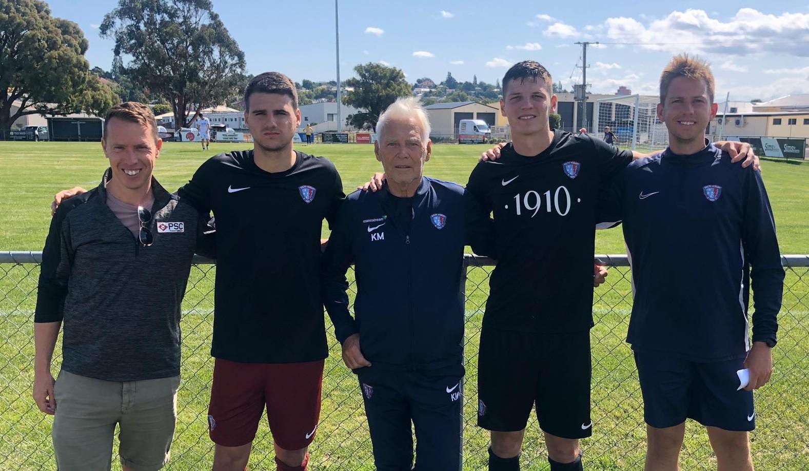 Partick Kibler Chase Webert Sign in Australia 2