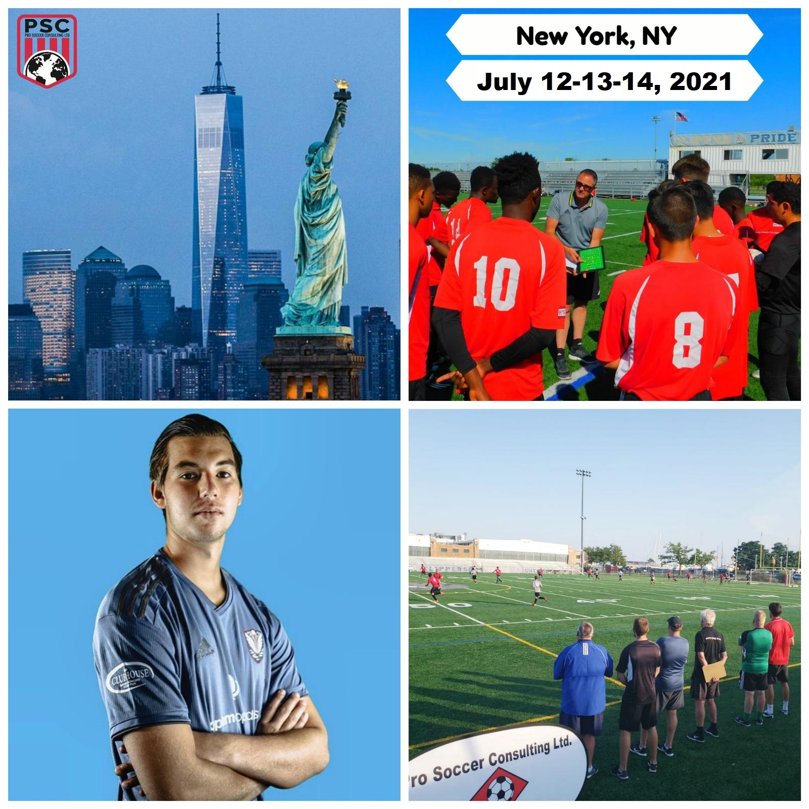 Pro Soccer tryout New York July